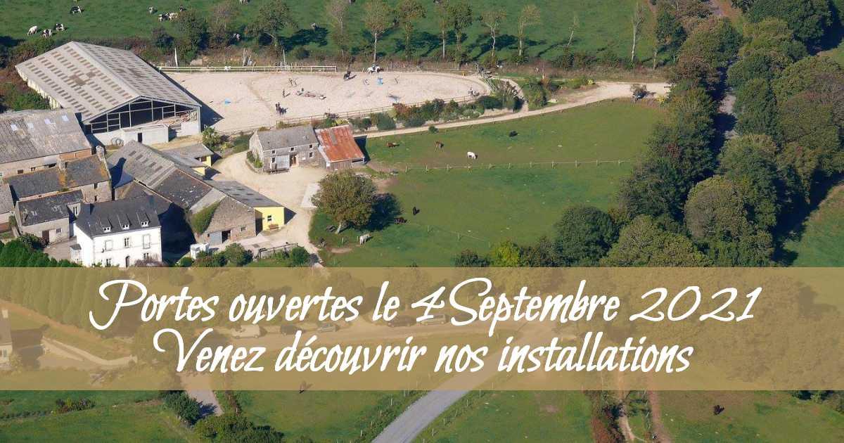 Portes ouvertes des Écuries de Locmaria. Venez découvrir nos installations et vous inscrire.